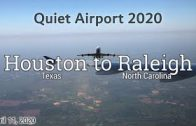 Flight Houston to Raleigh NC April 2020 Empty Plane Quiet Airport Flying Pandemic Air Travel